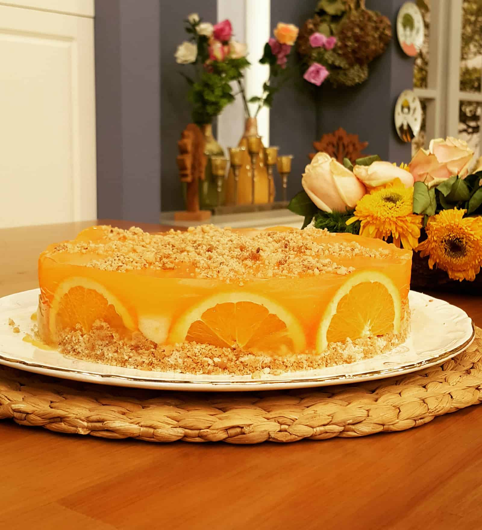 Portakal Diliminde Sütlü Irmik Helvası